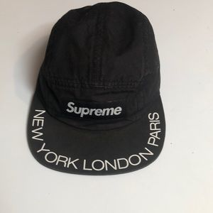 Supreme New York, London Paris black hat.